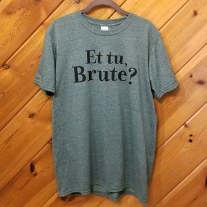 Green Graphic TShirt Et Tu Brute? Size medium
